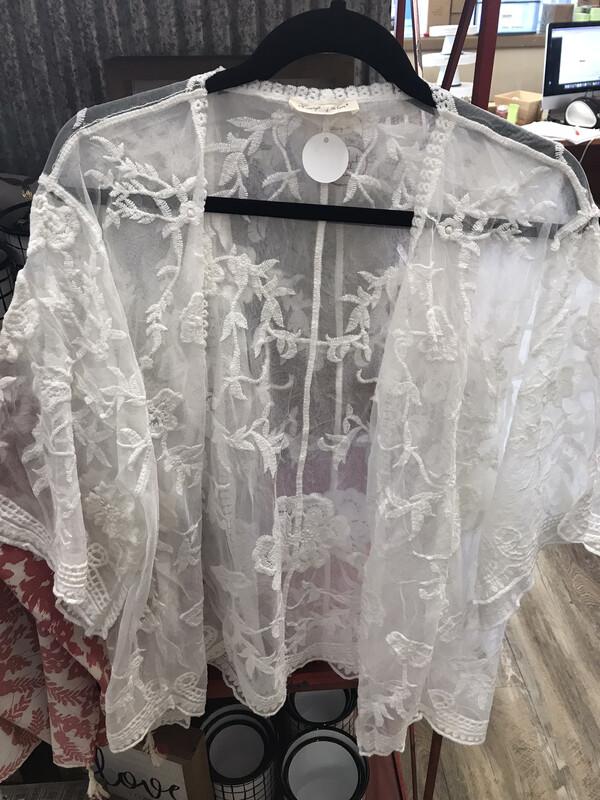 White Bamboo Kimono