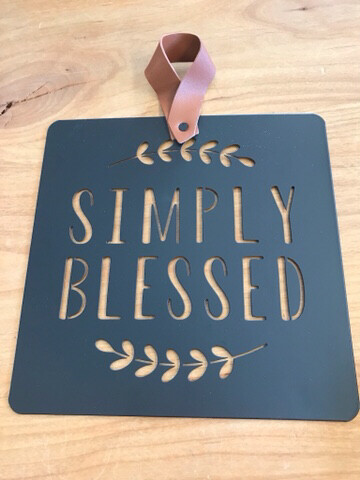 Simply Blessed Black Cutout