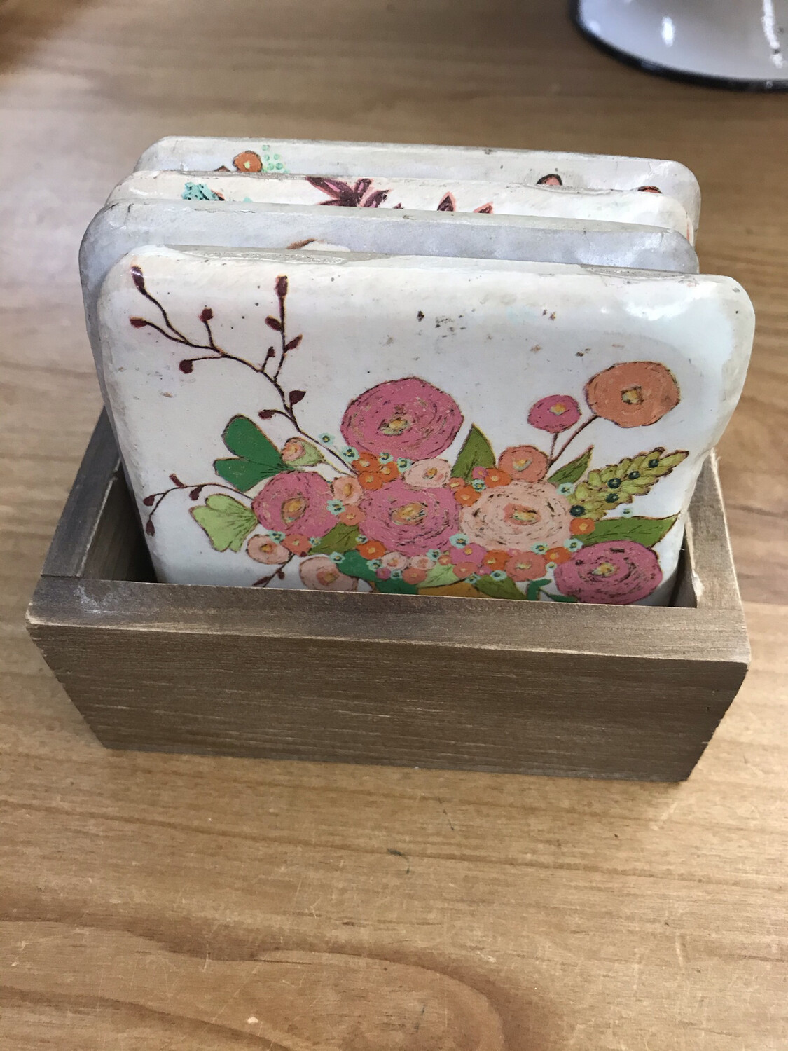 Boxed Floral Coasters