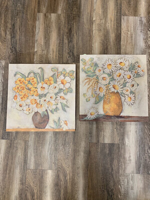 """20"""" Floral Wall Canvas"""