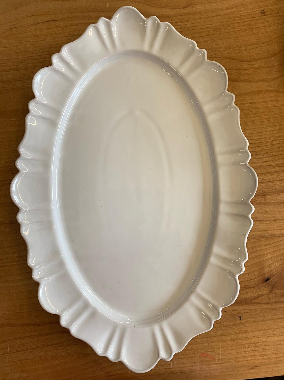 Scalloped Oval Platter