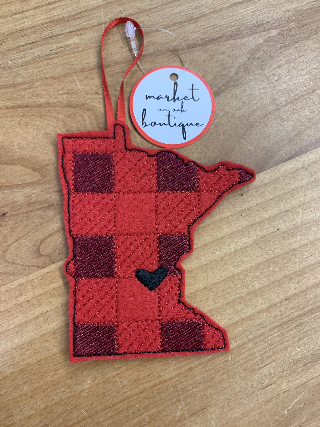 MN Buffalo Plaid Ornament
