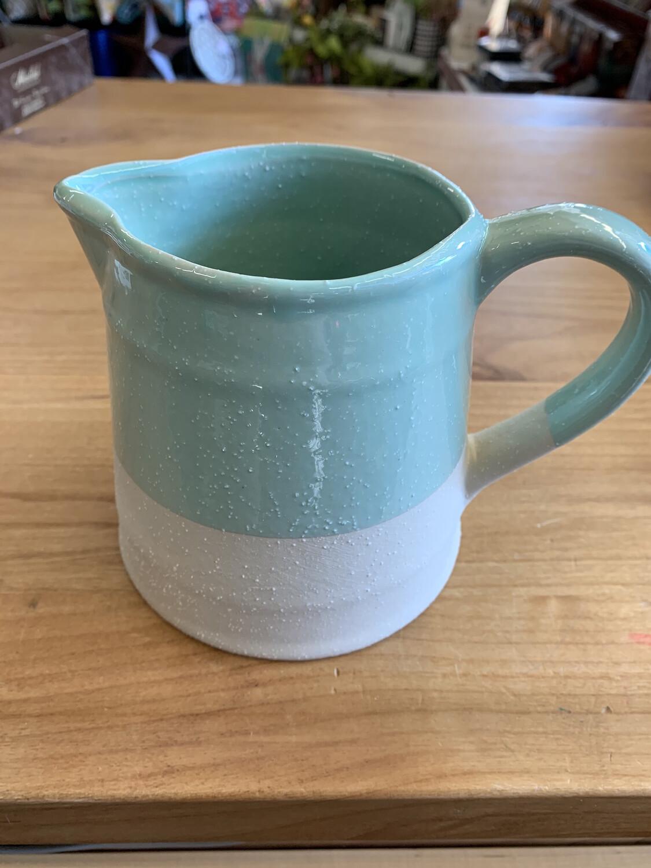 Mint Stoneware Pitcher