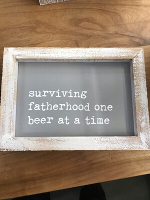 Fatherhood Beer Framed