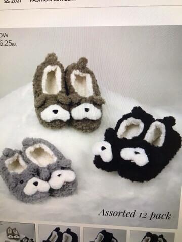 Sherpa Dog Slippers