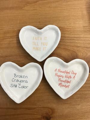 Heart Sayings Dish