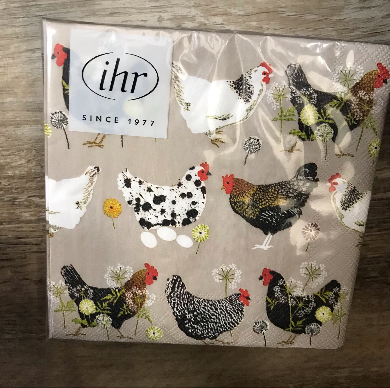 Hens & Eggs Cocktail Napkins