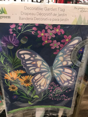 Butterfly Meadow Garden Flag