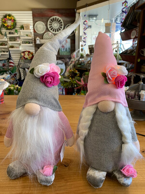 Pink & Grey LED Gnome