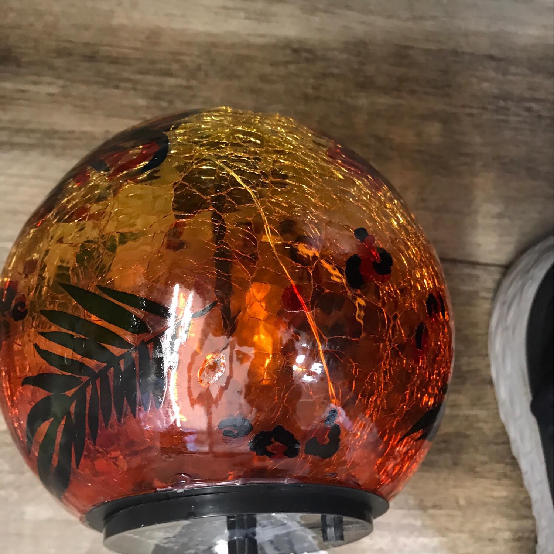"6"" LED Crackle Glass Globe"