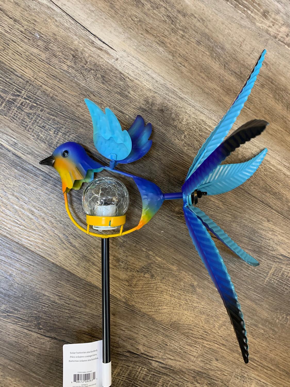 """38"""" Solar Bluebird Spinner Stake"""