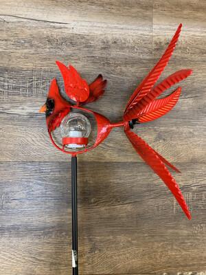 "38"" Solar Cardinal Spinner Stake"