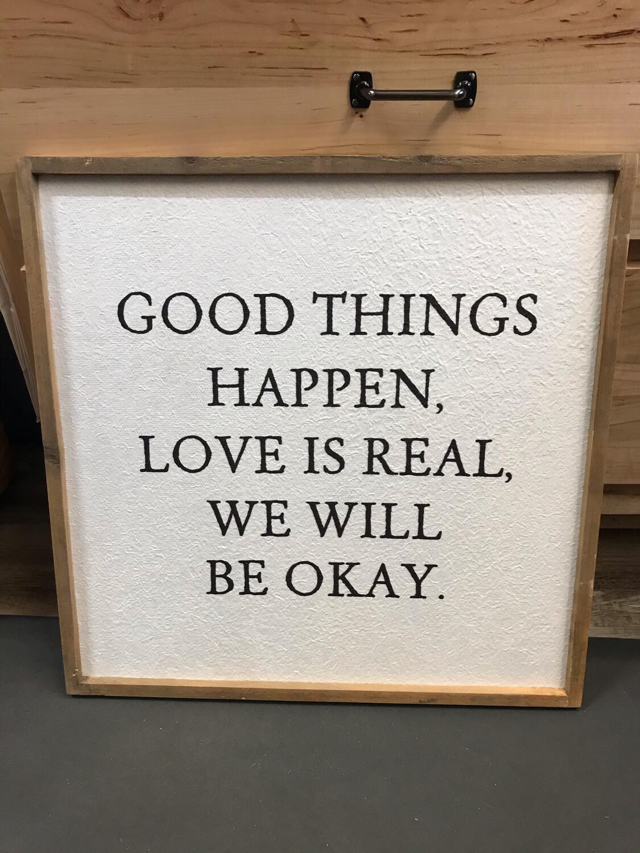 """20"""" Good Things Wall Decor"""