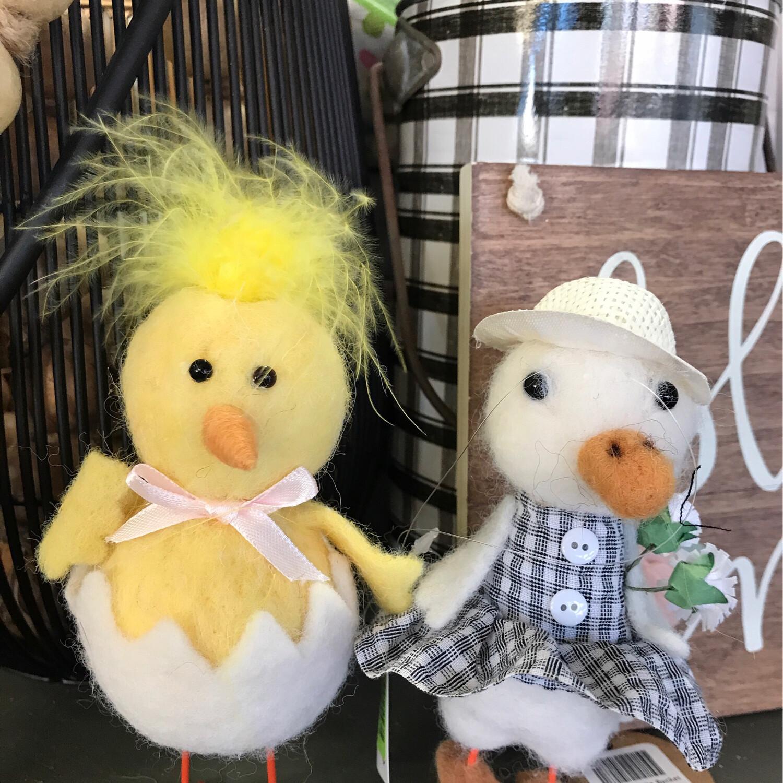 Gingham Dressy Ducks