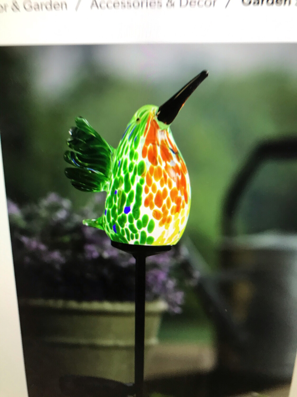 "23"" Solar Hummingbird Stake"