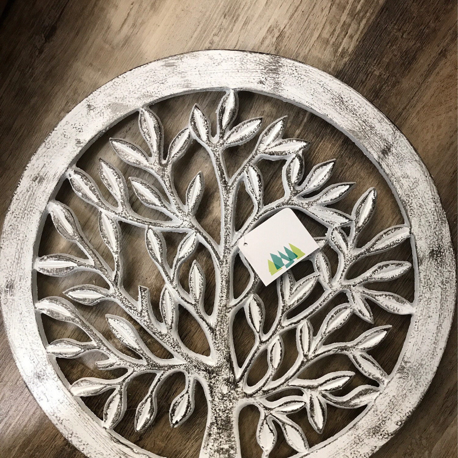 Distressed Tree of Life Garden Stone