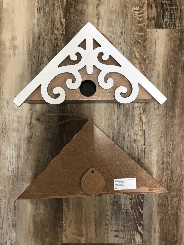 Scroll Wooden Birdhouse