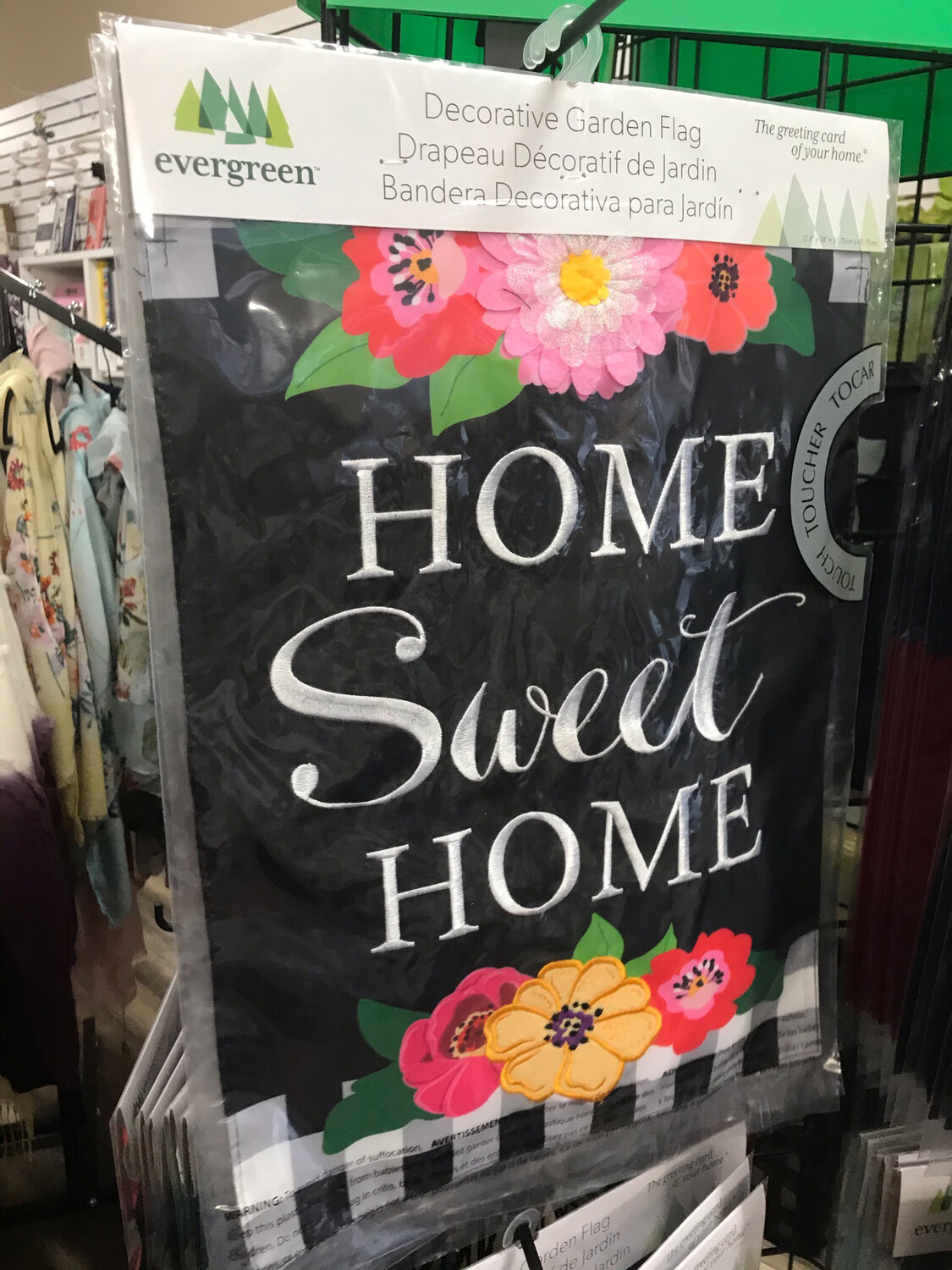 Floral Home Sweet Home Flag