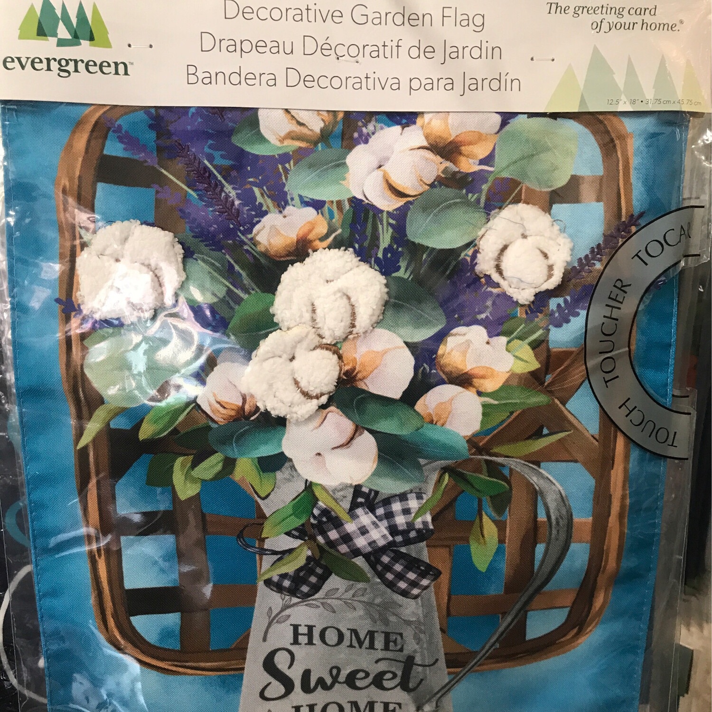 Cotton Bouquet Garden Flag