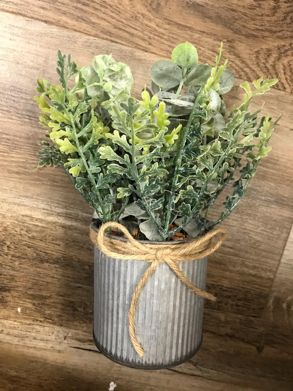 Eucalyptus Tin Planter