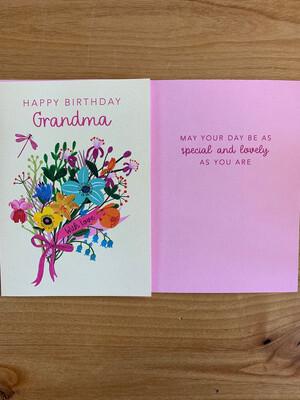 Floral Grandma Birthday