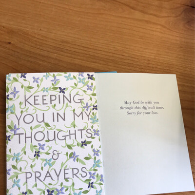 Christian Thoughts and Prayers Card