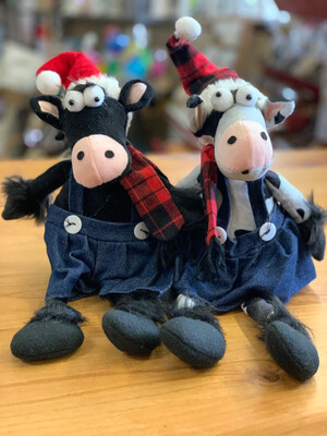 Plush Denim Cow
