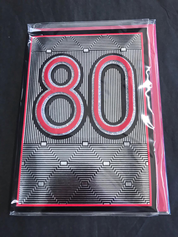 Glitter 80 Birthday Card