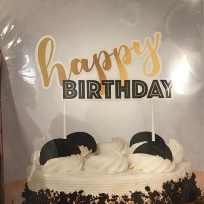 Golden Birthday Cake Topper