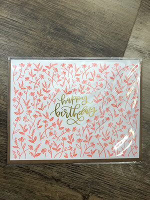 Coral Floral Birthday