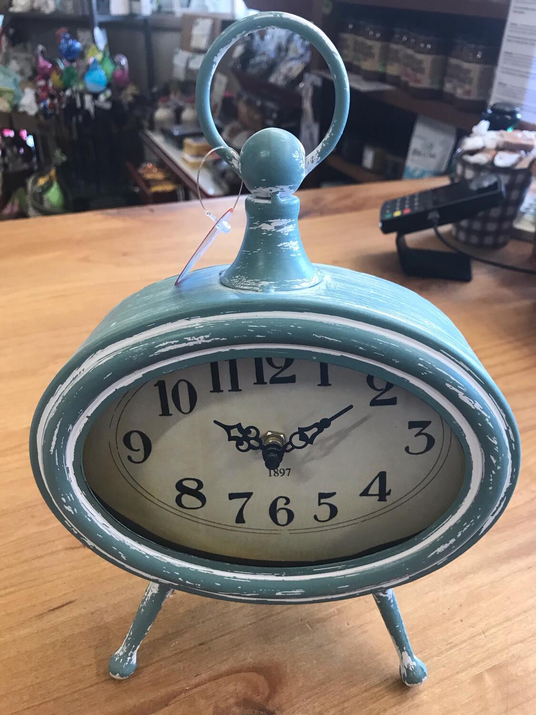 """Soft Teal Desk Clock 10.5"""""""