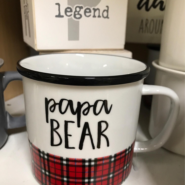 Papa Bear Plaid Mug