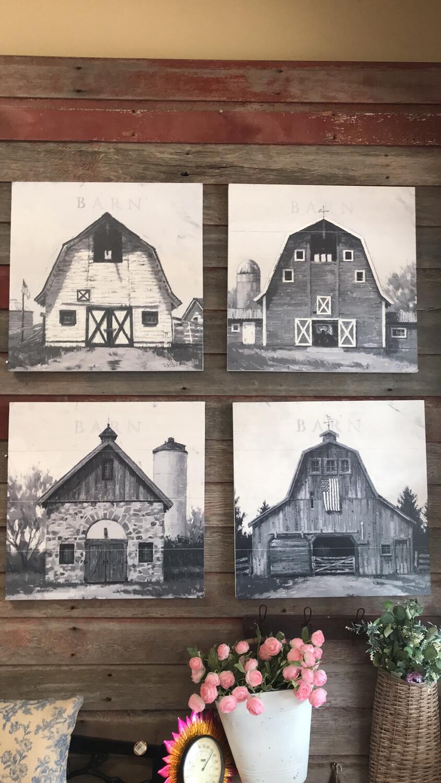 """22"""" Wood Barn Art"""