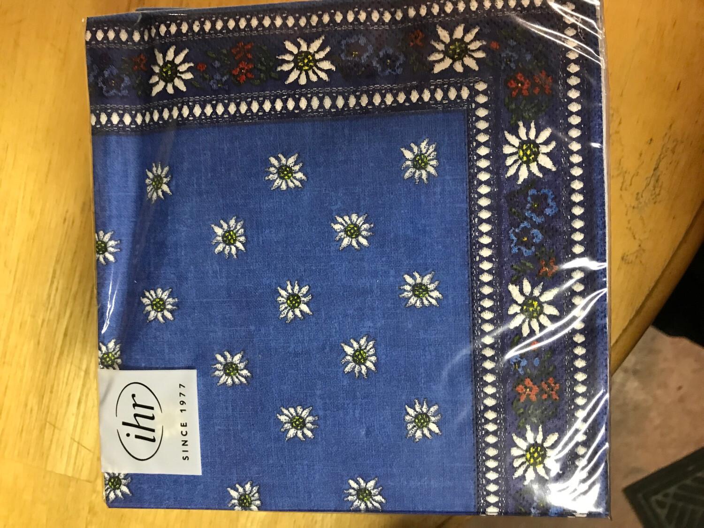 Edelweiss Blue Lunch Napkin