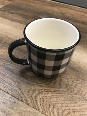 Black & White Checked Mug
