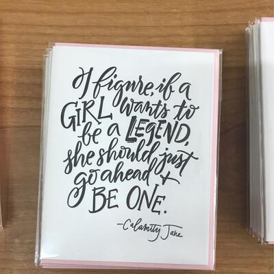 Girl Legend Card