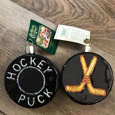 Hockey Puck Ornament