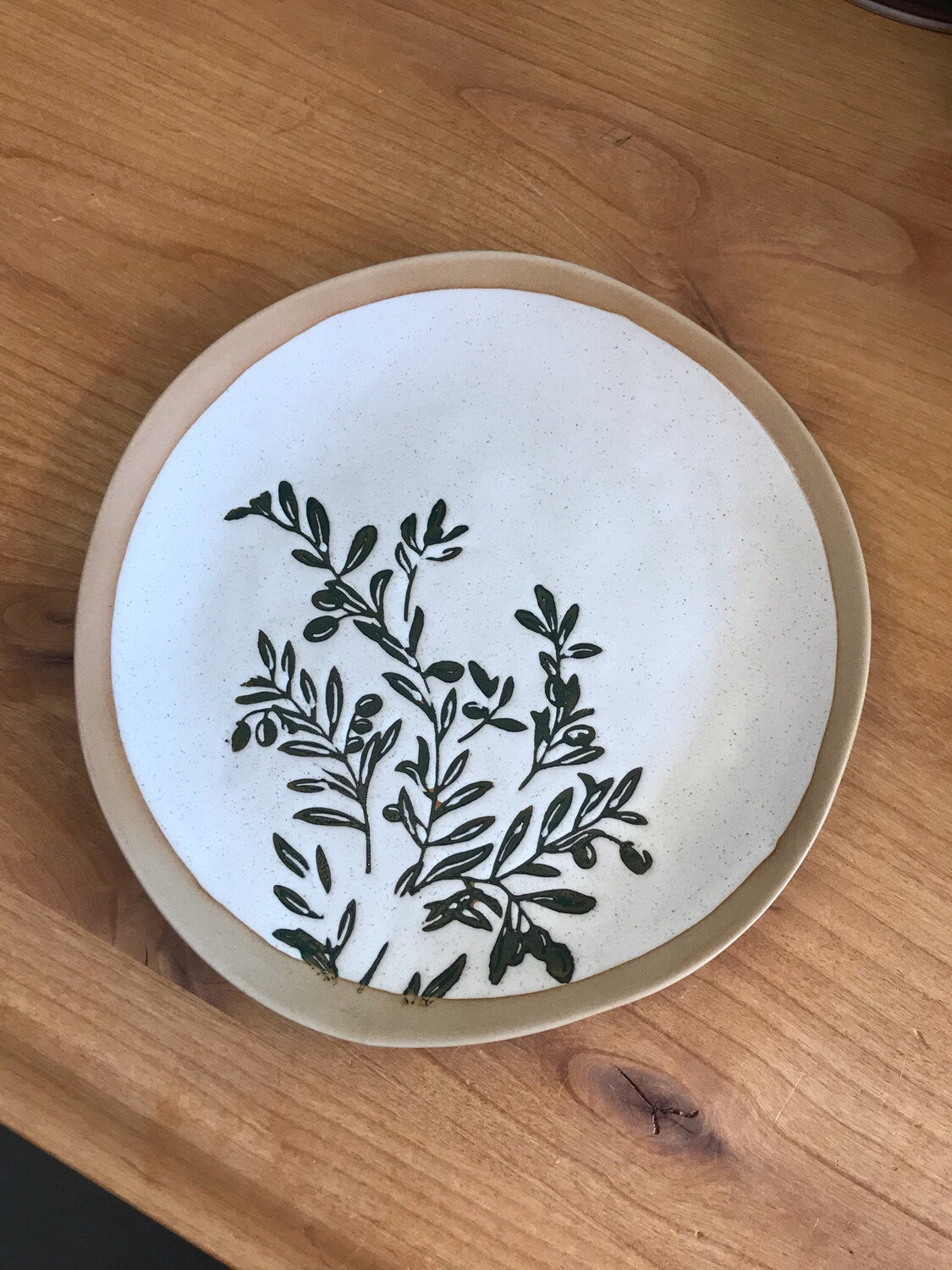 "10"" Olive Plates"