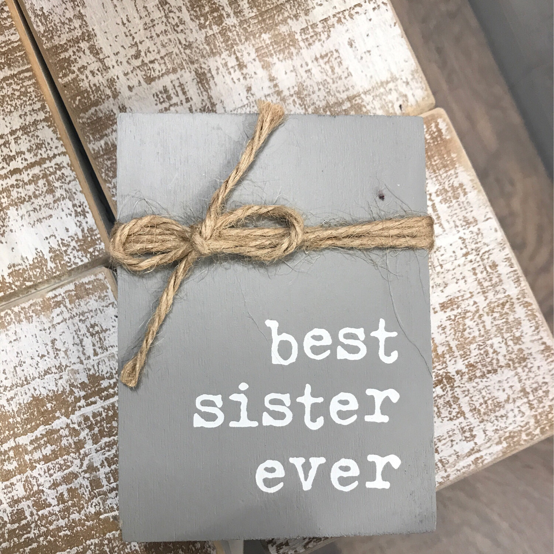Sister Jute Block Sign