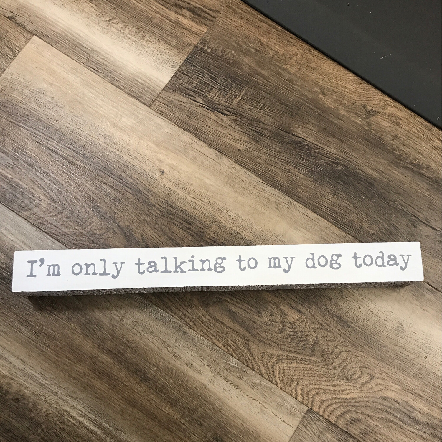 Talking To My Dog Sign