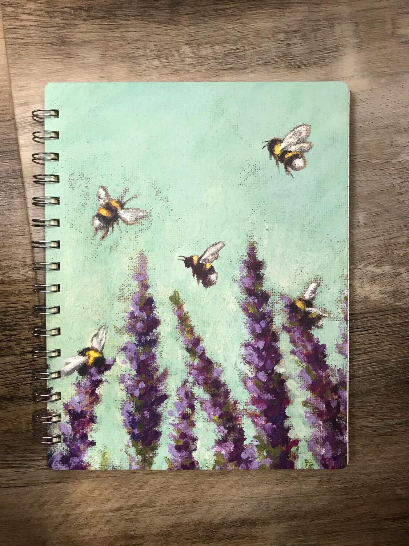 Bee & Lavender Notebook