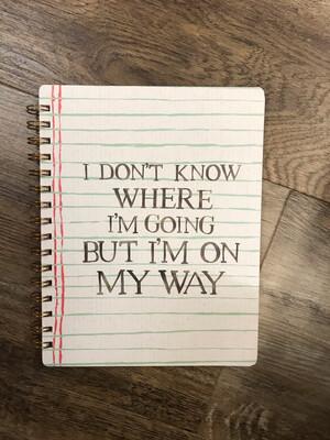 On My Way Notebook