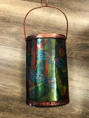 Tiffany Inspired Lantern-Dragonfly