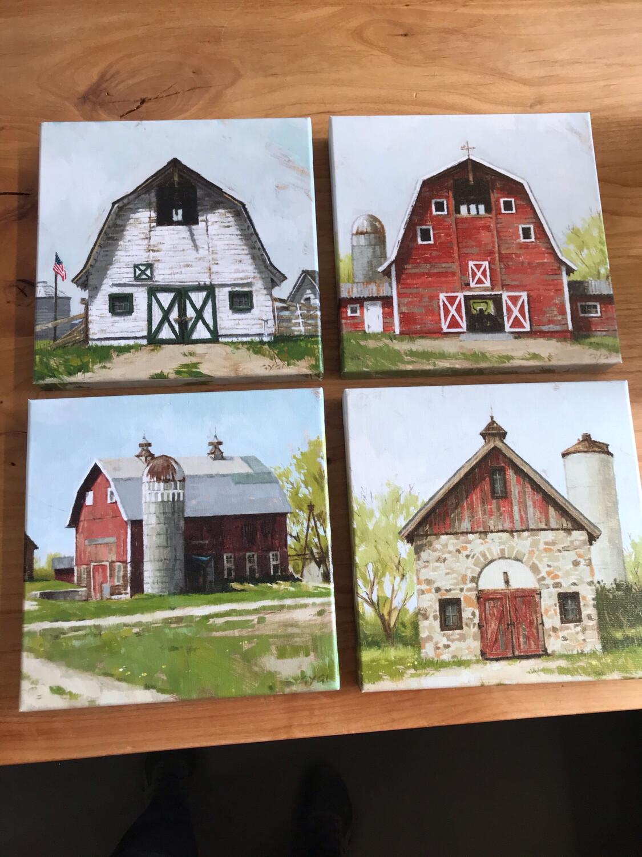 "9"" x 9"" Barn Canvas"