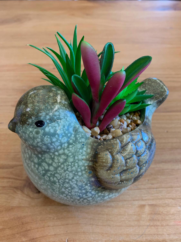Ceramic Bird Planter