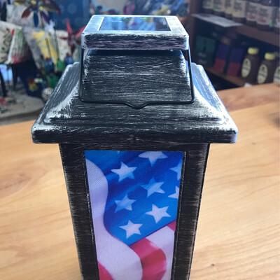 "11"" Solar Americana Lantern"
