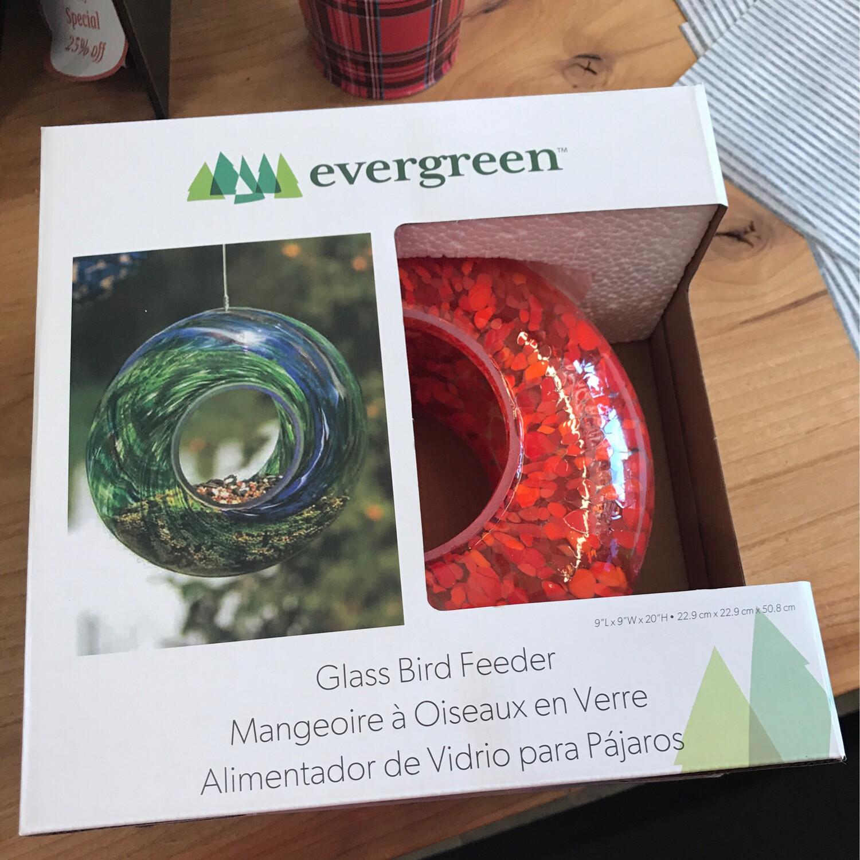 Glass Circle Feeder