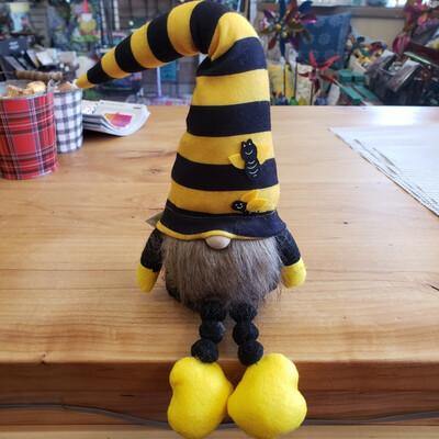 """19"""" Bee Striped Gnome"""