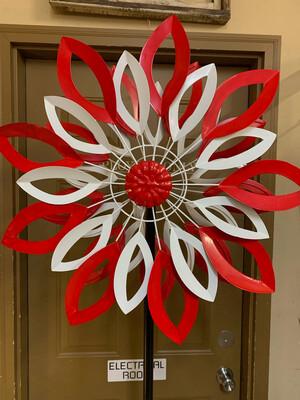"""75"""" Red & White Spinner"""