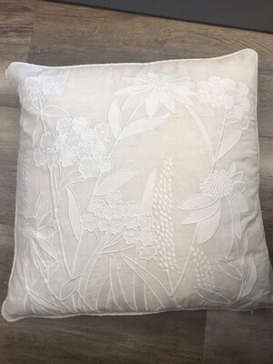 Ivory Embroidered Pillow